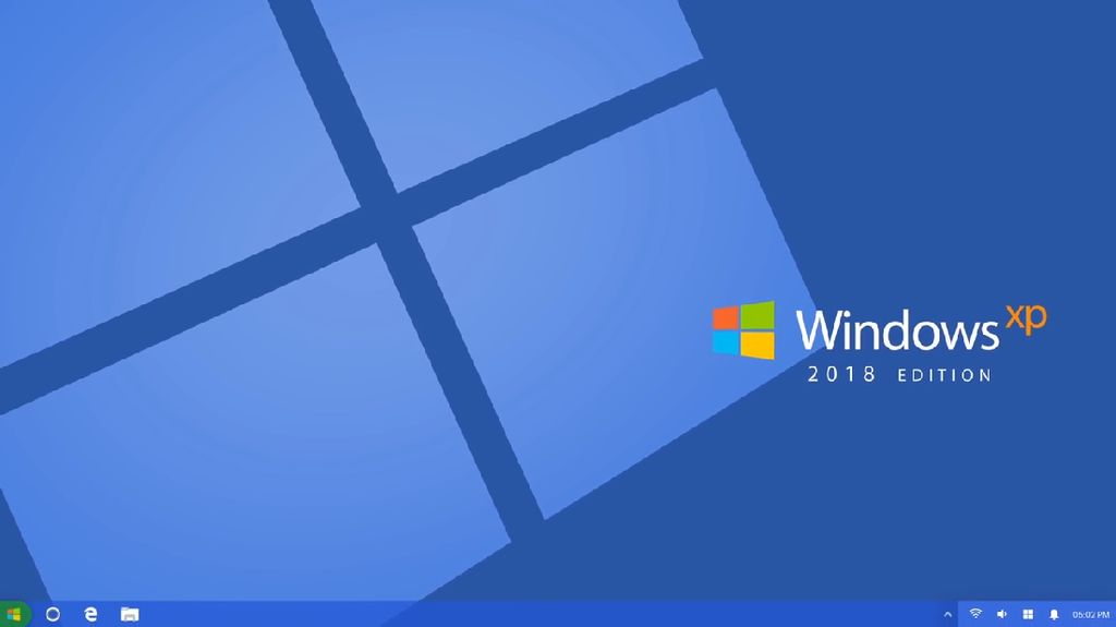 Ia memadukan Windows XP dan Windows 10. Foto: YouTube.com/Avdan