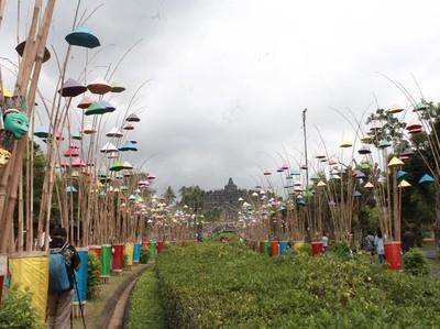 Foto: Candi Borobudur yang Bersolek Jelang Lebaran