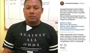 Pelaku Perusakan Lapak Uang di Cilegon Terancam 2 Tahun Penjara