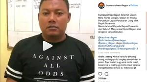 Viral Perusakan Lapak Tukar Uang di Cilegon, Pelaku Minta Maaf