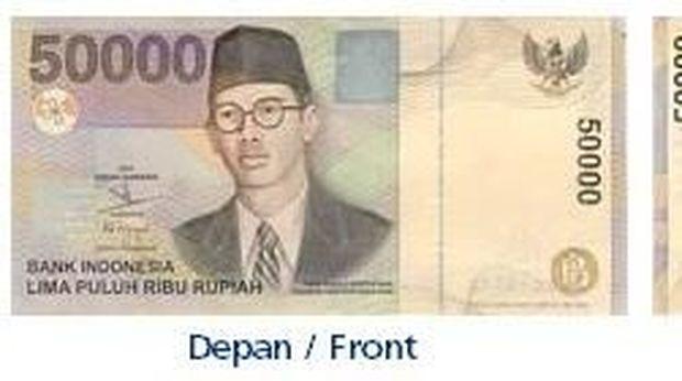 Uang pecahan Rp 50.000 yang ditarik BI