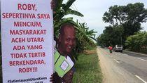 Cara Unik Polantas Aceh Utara Sindir dan Ingatkan Para Pemudik