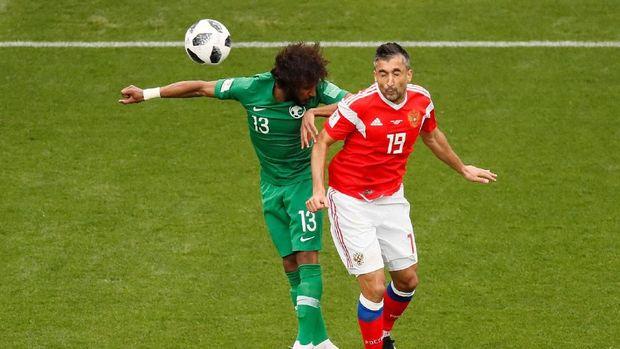 Arab Saudi tampil lebih baik di babak kedua.