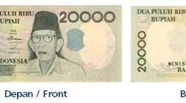 Uang pecahan Rp 20.000 yang ditarik BI