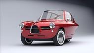 Lucu, Ini Mobil Listrik 3 Roda Bermuka Klasik