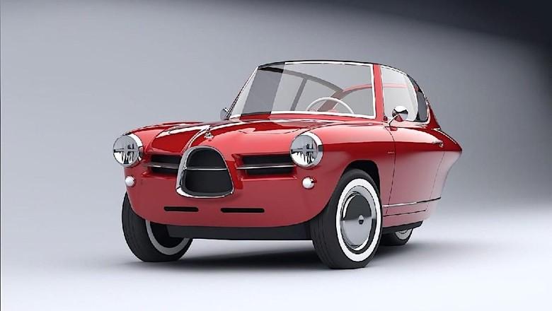 Lucu, Ini Mobil Listrik 3 Roda Bermuka Klasik Foto: Pool (Autoevolution)