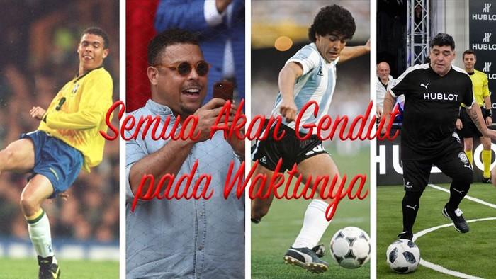 Pada masa jayanya, para legenda Piala Dunia ini punya tubuh yang bugar sebagaimana laiknyaatlet profesional lainnya. Namun segalanya berubah setelah, atau bahkan mulai menjelang, pensiun.