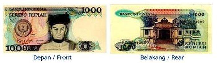 Uang kertas pecahan Rp 1.000/TE 1987. Istimewa/Dok. Bank Indonesia.