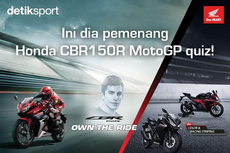Ini Dia! Daftar Pemenang Honda CBR 150R MotoGP Quiz