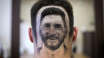 Tato Rambut Berwajah Messi Kreasi Tukang Cukur Serbia