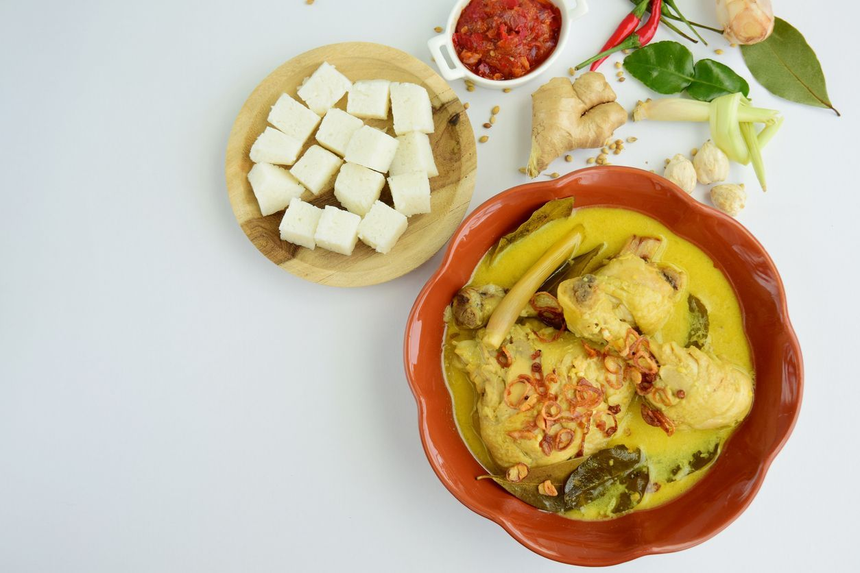 Indonesian traditional food during the Idul Fitri day
