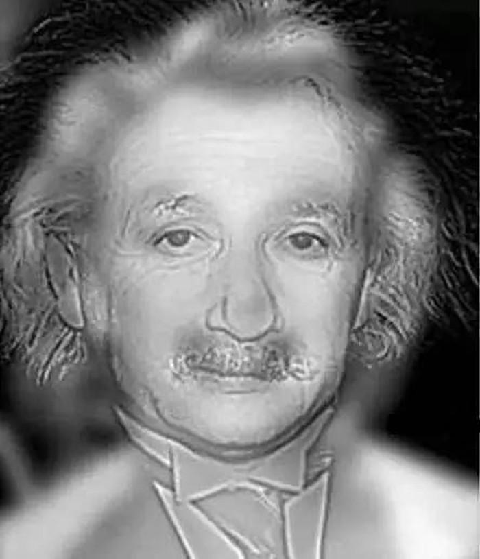 Siapa yang kamu lihat di gambar? Orang yang tidak memiliki rabun jauh akan melihat sosok Einstein, sedangkan orang dengan mata minus akan melihat Marilyn Monroe. (Foto: Looker)