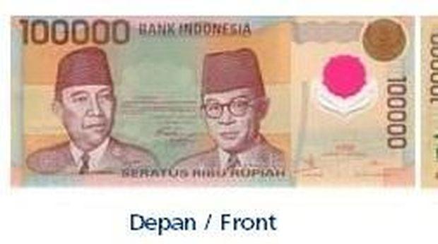 Uang pecahan Rp 100.000 yang ditarik BI