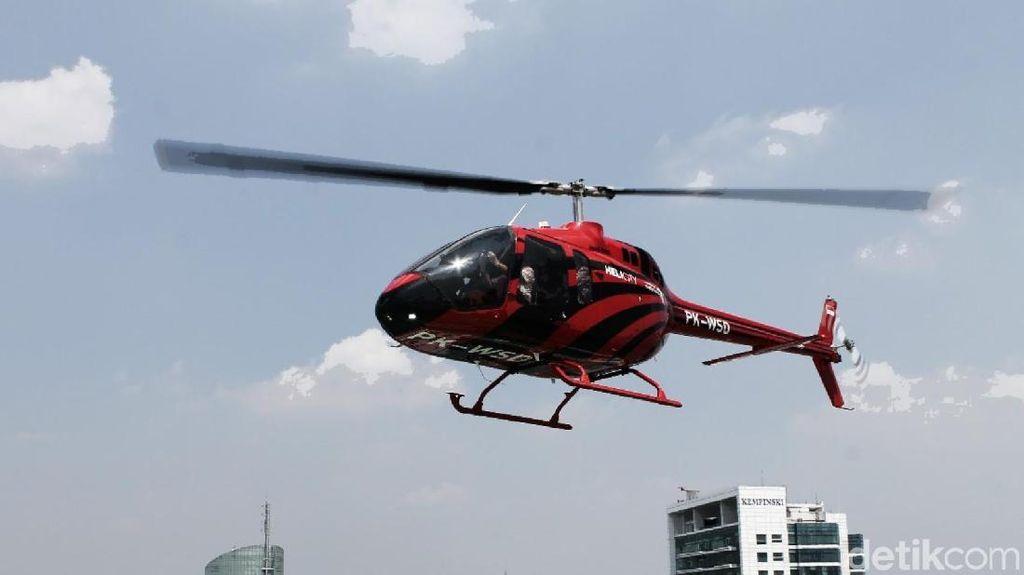 Mudik Cepat Pakai Helikopter