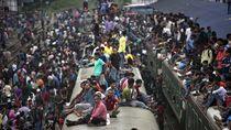 Begini Potret Mengerikan Mudik di Bangladesh