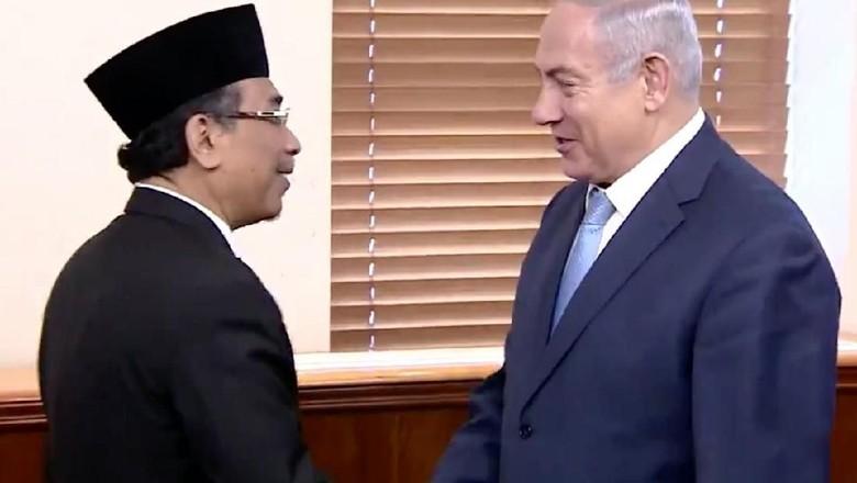 Momen Pertemuan Yahya Cholil Staquf dan PM Israel