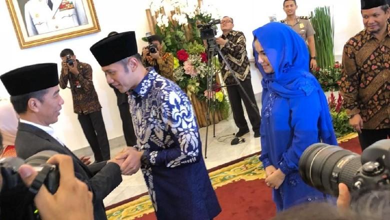 AHY Sampaikan Salam dari SBY Saat Bertemu Jokowi di Istana Bogor