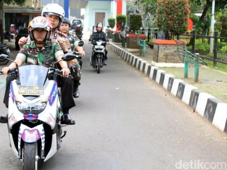 Polri TNI di Sukabumi Amankan Ratusan Motor dan Senjata Tajam