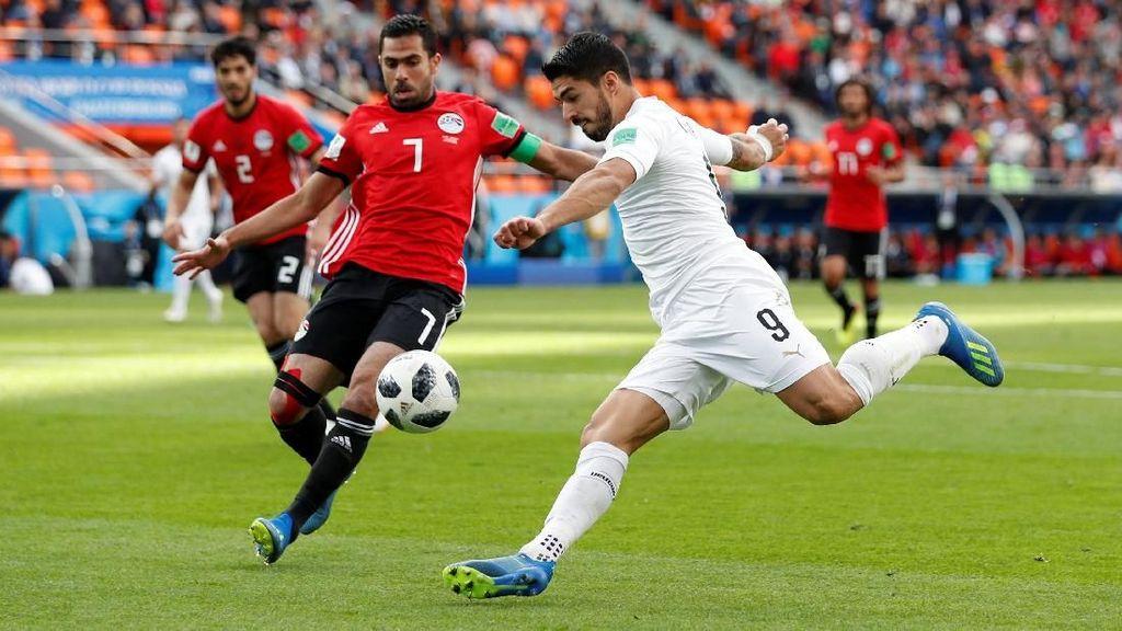 Hasil Pertandingan Piala Dunia 2018: Mesir vs Uruguay Skor 0-1