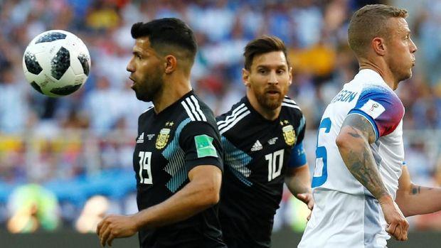 Timnas Argentina hanya meraih satu poin di laga perdana Piala Dunia 2018.