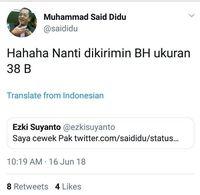 Di- bully karena Twit Lecehkan Perempuan, Said Didu Minta Maaf