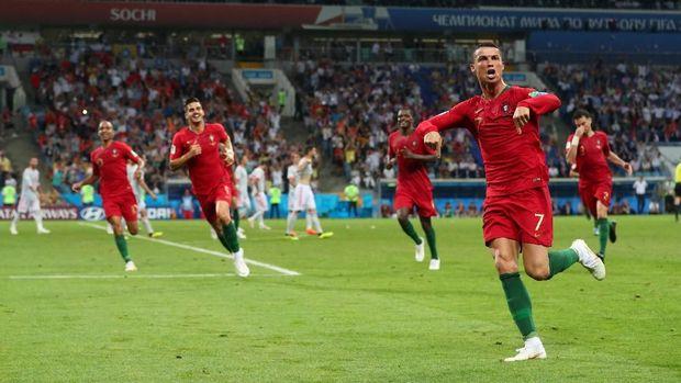 Golnya ke gawang Spanyol membuat Ronaldo mencetak gol di sembilan turnamen internasional secara beruntun.