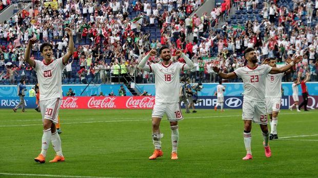 Timnas Iran meraih kemenangan atas Maroko di laga pertama Piala Dunia 2018.