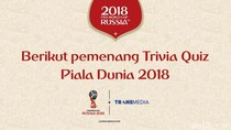Para Pemenang Trivia Quiz Piala Dunia 2018 detikSport