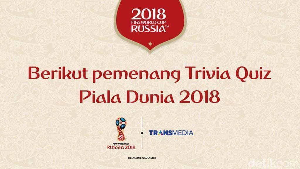 Ini Dia, Pemenang Trivia Quiz Piala Dunia 2018 detikSport