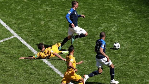 Prancis menang atas Australia di pertandingan pertama di Piala Dunia 2018.