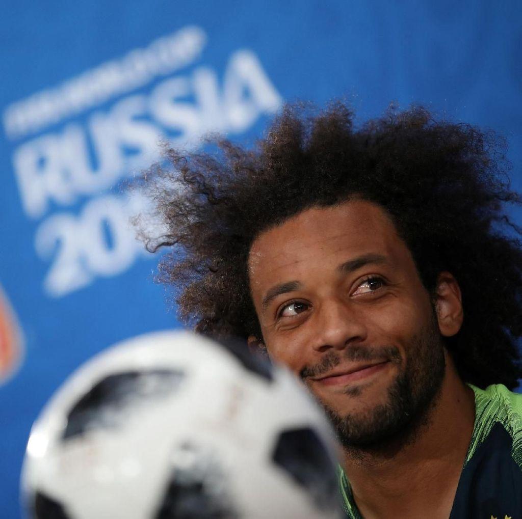 Gemasnya Penggawa Brasil Berlatih Bareng Buah Hati