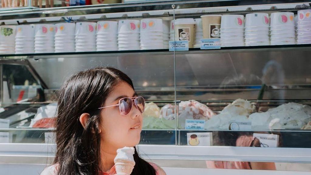 Cantiknya Almira, Cucu SBY yang Suka Banget Makan Es Krim
