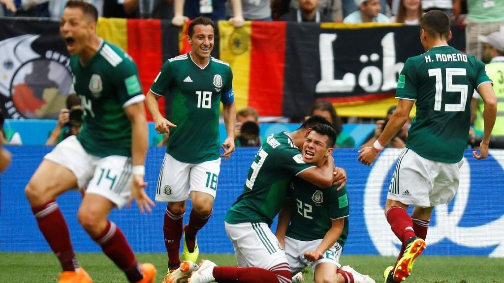 Meksiko Tumbangkan Jerman 1-0