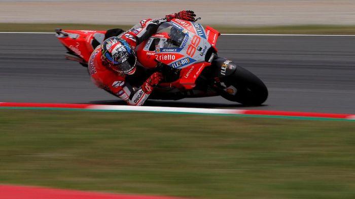 Jorge Lorenzo di MotoGP Catalunya. (Foto: Jon Nazca/Reuters)