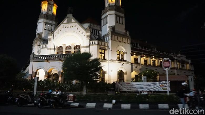 Lawang Sewu Semarang di malam hari ( Masaul/detikTravel)