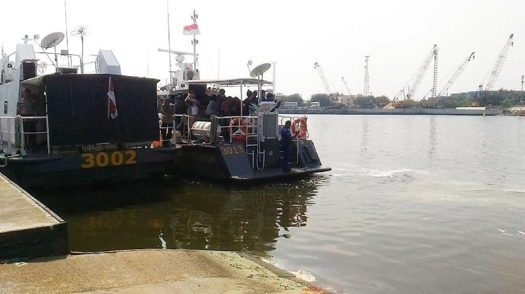 Cari Buaya 2,5 M, Ditpolair Sisir Teluk Ancol Arah Pondok Dayung