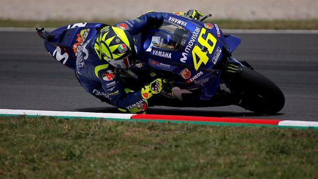 Valentino Rossi bakal start dari posisi ketiga MotoGP Belanda.
