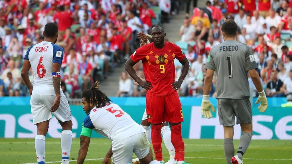 Babak I Kelar, Belgia vs Panama Masih Tanpa Gol