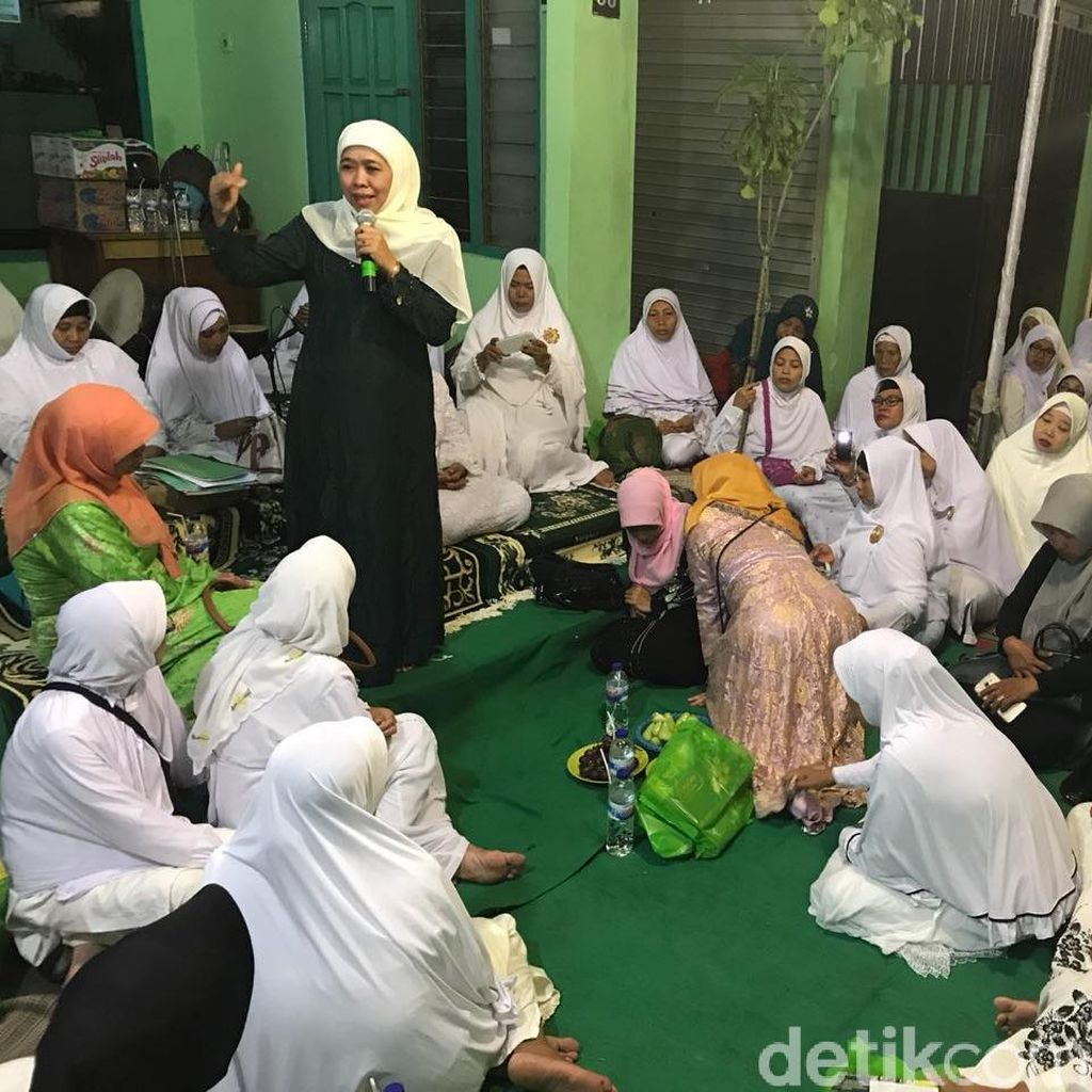 Khofifah Ajak Muslimat Jaga Suasana Teduh Jelang Coblosan