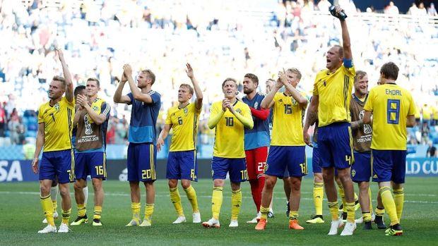 Timnas Swedia berada di atas angin setelah mengalahkan Korea Selatan 1-0. (