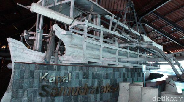 Kapal Samudraraksa yang terinspirasi dari relief di Candi Borobudur (Pertiwi/detikTravel)