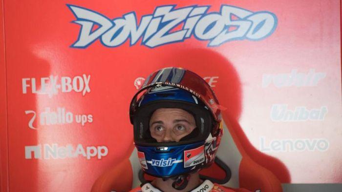 Untuk kali ketiga di MotoGP 2018, Andrea Dovizioso gagal menambah angka (Foto: Mirco Lazzari gp/Getty Images)