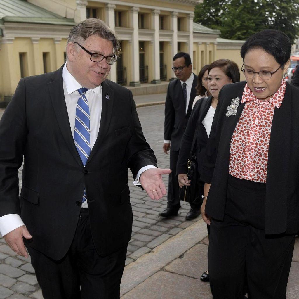 Bertemu Sekjen PBB di Finlandia, Menlu RI Sampaikan 3 Hal Ini