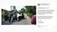Viral, Aksi Polisi Ibun Kabupaten Bandung Ambil Alih Mobil Mogok
