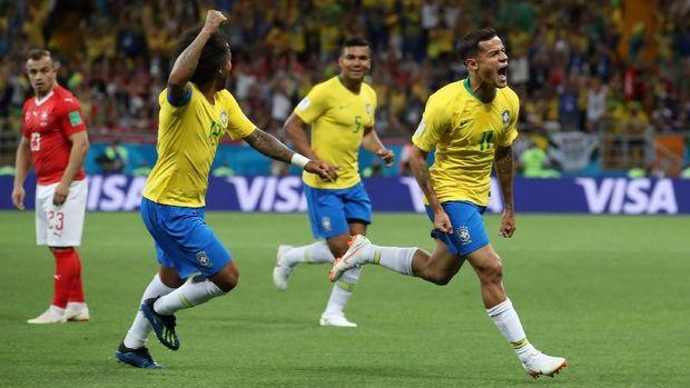 Brasil akan menghadapi Serbia.