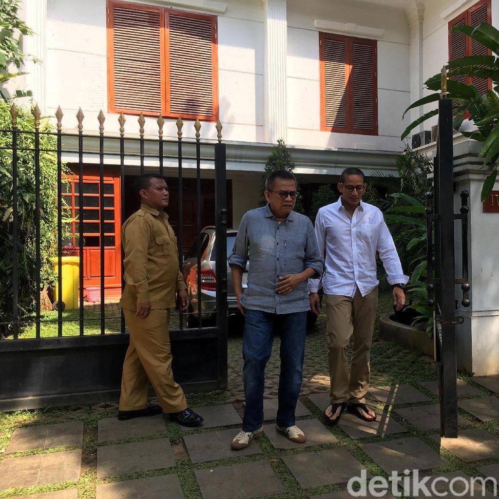 Ditemani Taufik, Sandi Halalbihalal ke Rumah Prabowo