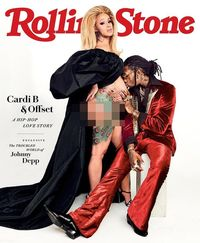 Hamil Besar, Cardi B Berpose Seksi di Cover Rolling Stone