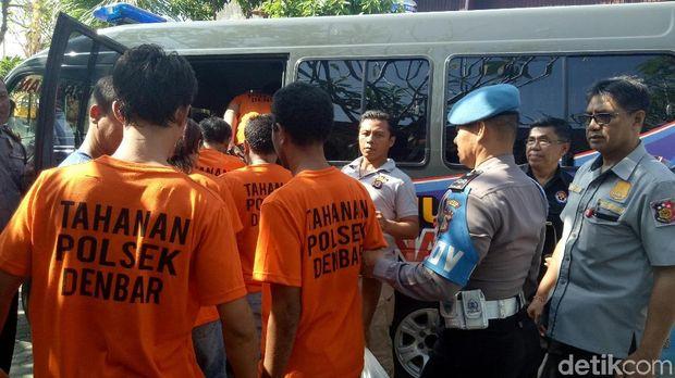 14 Tahanan Polsek Denpasar Barat Dipindahkan