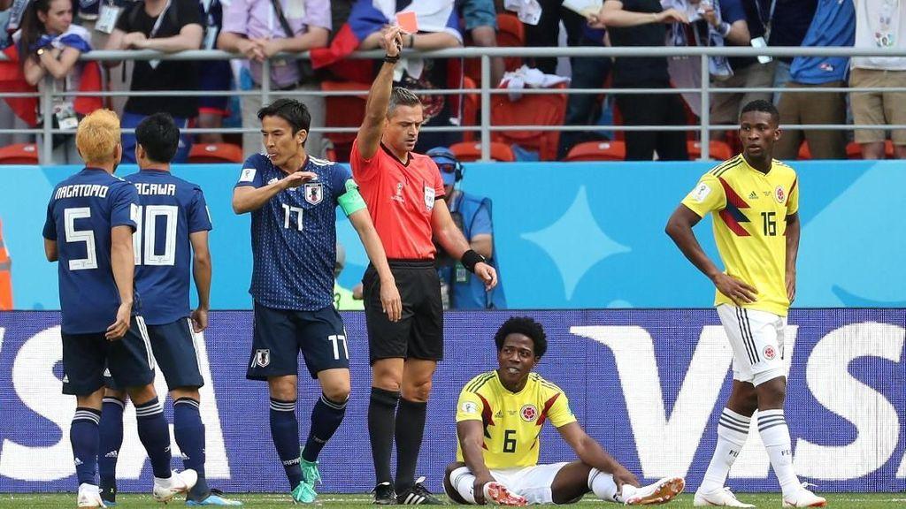 Kartu Merah Tercepat Kedua Piala Dunia di Laga Kolombia vs Jepang