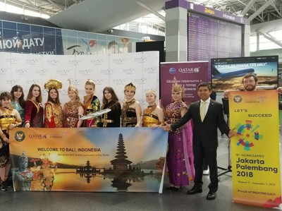 Promosi Asian Games 2018, Bandara Ukraina Adakan Tarian Tradisional